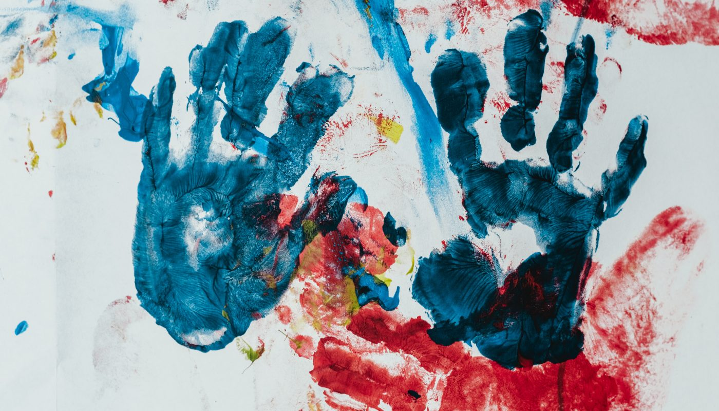 A Child's Finger Painting