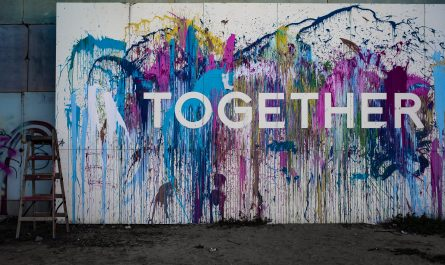 "A Wall with the Word ""Together."""